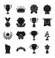 cup medal pennant and other elements awards vector image