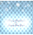 Geometric Christmas background with snowflakes vector image
