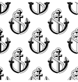 Seamless background pattern of ships anchors vector image