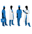 doctors silhouettes vector image