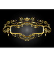 Gold frame in the with crown and candelabras vector image
