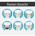 set men European character chef vector image