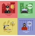 Police Work Concept vector image