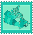 Canada on stamp vector image