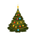 christmas tree xmas concept or symbol cartoon vector image