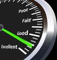 evaluation speedometer vector image