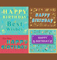 Greeting cards with floral decor vector image