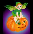 halloween pixie vector image