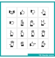Hands gestures icon set vector image
