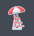 lifeguard work place flat icon vector image