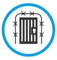 Prison Entrance Rounded Icon vector image