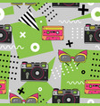seamless pattern in memphis style with hand drawn vector image