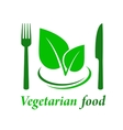 vegetarian restaurant icon vector image