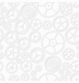 white color clockwork seamless pattern vector image
