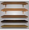 - Wood Shelves vector image