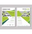 annual report brochure flyer design template vector image