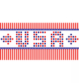 Patriot Day with USA letters vector image