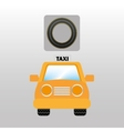 taxi car front circle road way design vector image