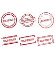 Express stamps vector image vector image