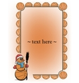 Frame with basketball and snowman vector image