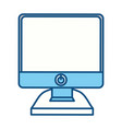 isolated pc screen vector image