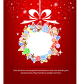 christmas icon of background for christmas card vector image vector image