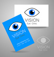 vision eye clinic vector image vector image