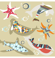 abstract natural animal pattern vector image