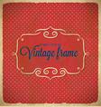 Aged vintage polka dot frame vector image