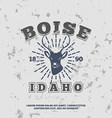 Boise Idaho grunge effect on separate layer vector image