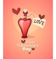 Cartoon love potion icon heart shaped with letter vector image