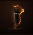 cosmetic cream packaging design vector image