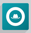flat classic hat icon vector image