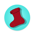 Flat long shadow socks icon isolate vector image