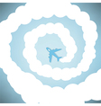Rocket on sky blue color vector image