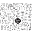 Sketch set Hand drawn elements Dotted vector image