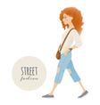 Street fashion vector image
