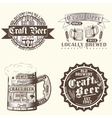 set of brewery emblems vector image