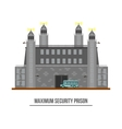 Prison exterior or jail building with towers vector image