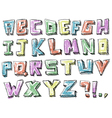 Colorful sketchy hand drawn alphabet vector image