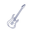 rock electric guitar vector image
