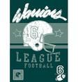 Football warriors league vector image