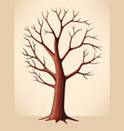 Bare brown tree vector image