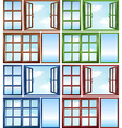 Windows close and open vector image