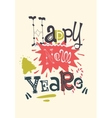 Stylish text Happy New Year on abstract background vector image
