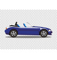 blue modern cartoon colored cabriolet car vector image
