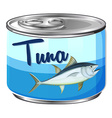 Canned food with tuna inside vector image