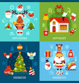 christmas flat concept vector image