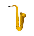 isolated saxophone musical instrument vector image