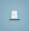 Online billing document vector image